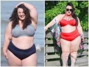 """Nàng béo ngoại cỡ chuyên mặc bikini  """" chất chơi """"  nhất quả đất"""