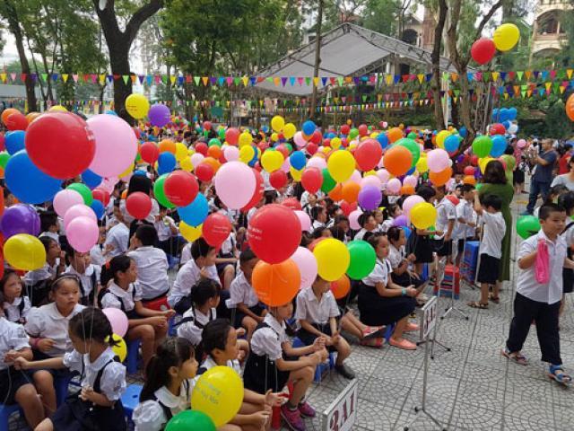 Chủ tịch nước Trần Đại Quang đánh trống khai giảng năm học mới - 4