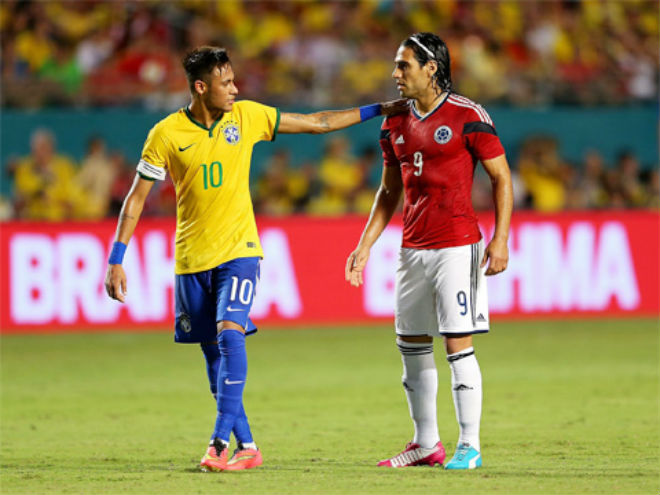 """Colombia – Brazil: """"Ảo thuật gia"""" Neymar đọ tài """"Mãnh hổ"""" Falcao - 2"""
