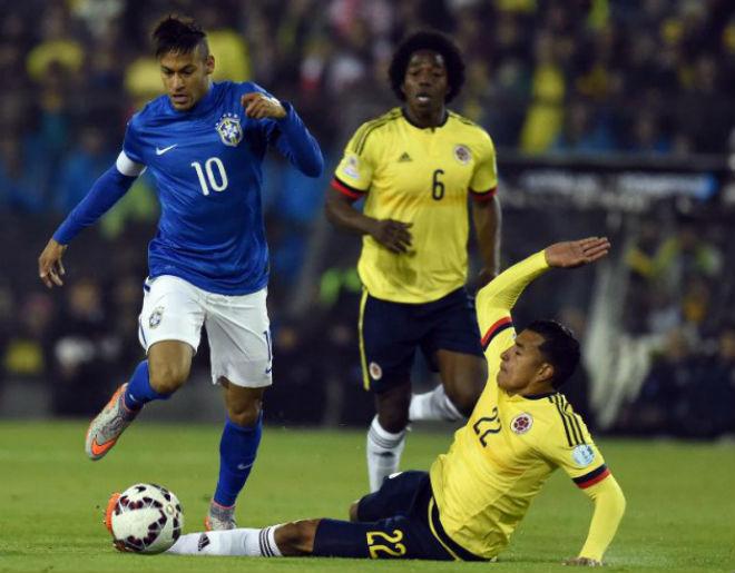 """Colombia – Brazil: """"Ảo thuật gia"""" Neymar đọ tài """"Mãnh hổ"""" Falcao - 1"""