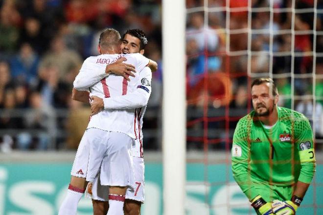 Liechtenstein - Tây Ban Nha: Morata rực sáng, hơn cả đánh tennis
