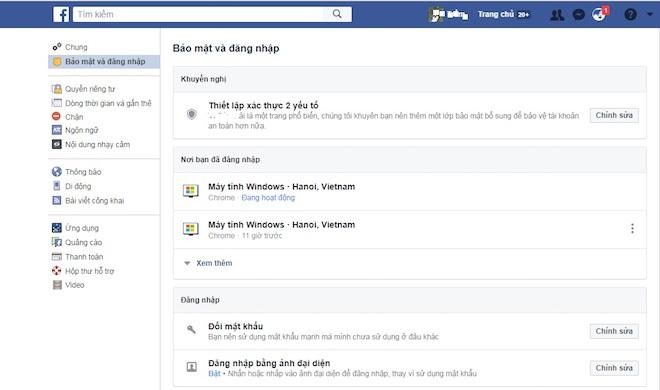 Hướng dẫn cách bảo mật 2 lớp trên facebook cá nhân - 1