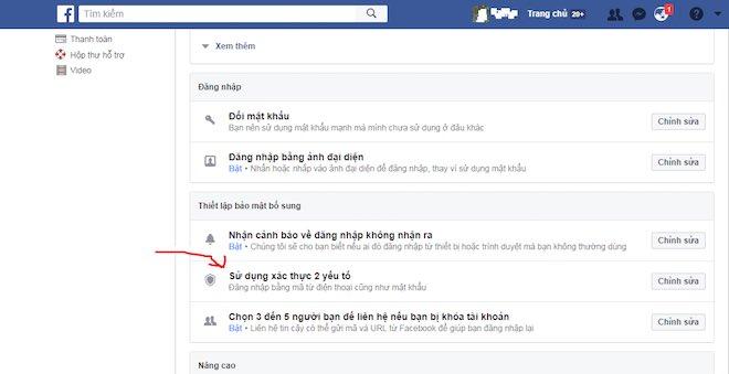 Hướng dẫn cách bảo mật 2 lớp trên facebook cá nhân - 2