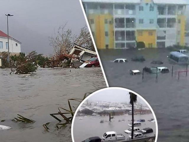 """Âm thanh lạ đáng sợ khi siêu bão """"quái vật"""" tràn qua Caribe - 3"""