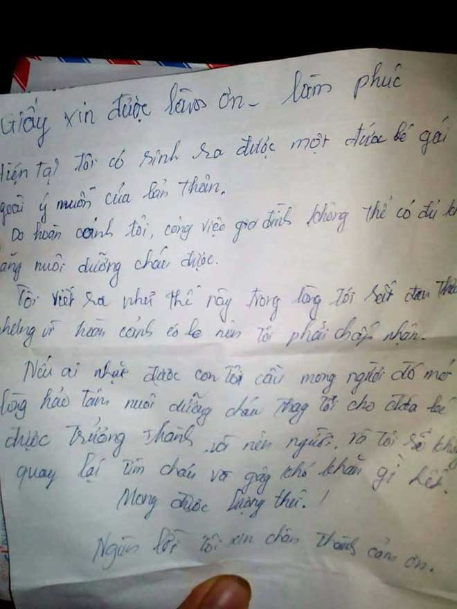 Bé gái bị bỏ rơi và bức thư đẫm nước mắt của người mẹ - 2