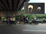 """Hé lộ  """" thủ phạm """"  hạ gục hàng loạt xe trên cao tốc HN-Bắc Giang"""