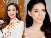 """Hoa hậu Lào  """" xinh như tiên """"  lần đầu đọ sắc Đỗ Mỹ Linh"""