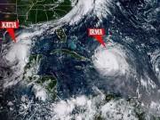 Thế giới - Cảnh 3 siêu bão Đại Tây Dương đáng sợ bao vây nước Mỹ