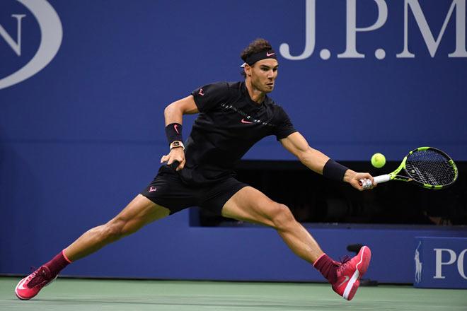 US Open: Nadal ra loạt đòn hảo hạng, Del Potro thất thần 9