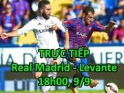 Bóng đá - Chi tiết Real Madrid - Levante: Thẻ đỏ, cột dọc và sự tiếc nuối