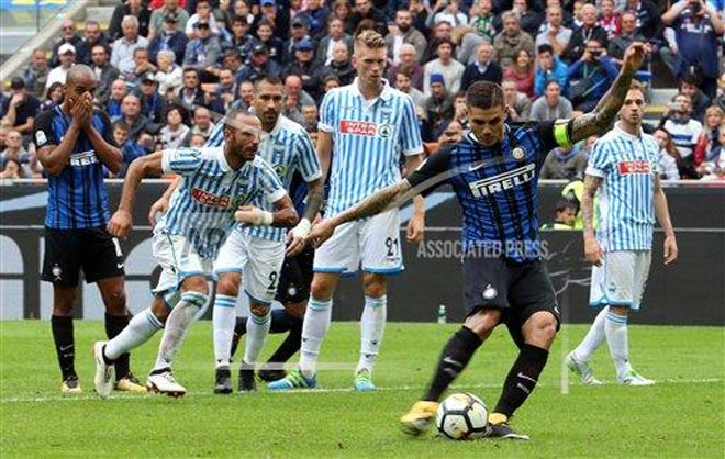 "Inter Milan - SPAL: Song tấu ""sát thủ"" Icardi - Perisic - 1"