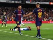 Vắng Ronaldo, Messi nối dài kỉ lục giúp Barca lên đỉnh