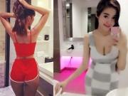 Elly Trần và dàn sao Việt đọ sexy trong phòng tắm