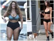 Thời trang - 2 người mẫu sexy thản nhiên mặc mỗi đồ lót khoe thân ra đường