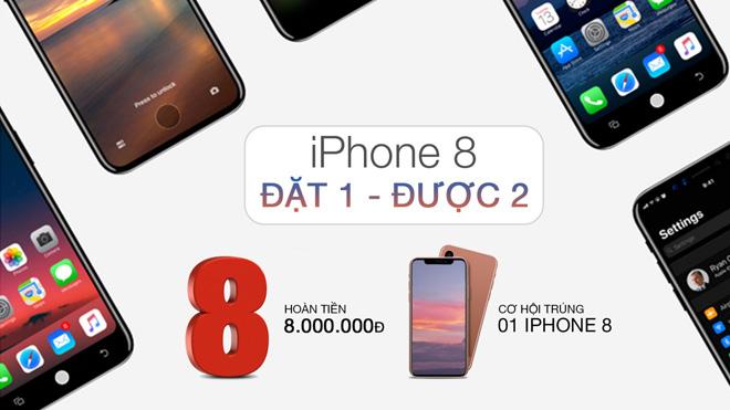 Đặt gạch iPhone 8 - giảm 8 triệu và cơ hội trúng iPhone 8 - 2