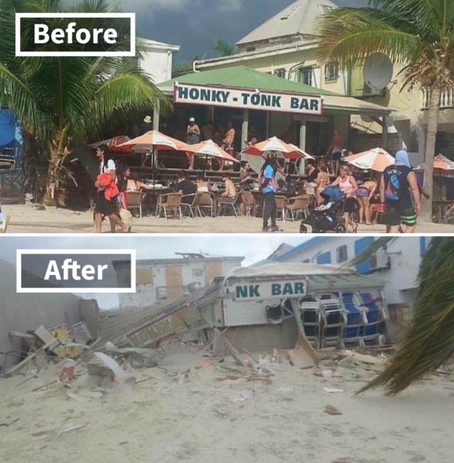 Hình ảnh sốc về những điểm du lịch nổi tiếng trước và sau bão siêu Irma - ảnh 3