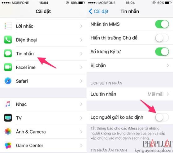 2 cách chặn tin nhắn quảng cáo trên smartphone - 3