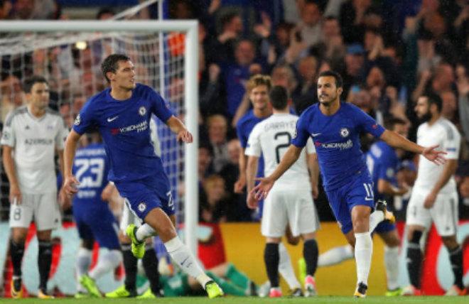 Chelsea thắng 6-0 trận ra quân Champions League