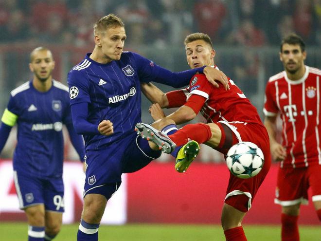 Video, kết quả bóng đá Bayern Munich - Anderlecht: Thẻ đỏ rồi vỡ trận phút 12 - 1