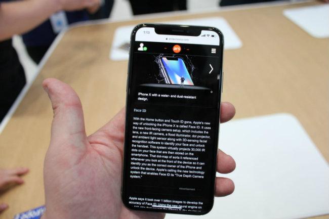 Trình duyệt web đem lại văn bản nhiều hơn so với iPhone trước đây.