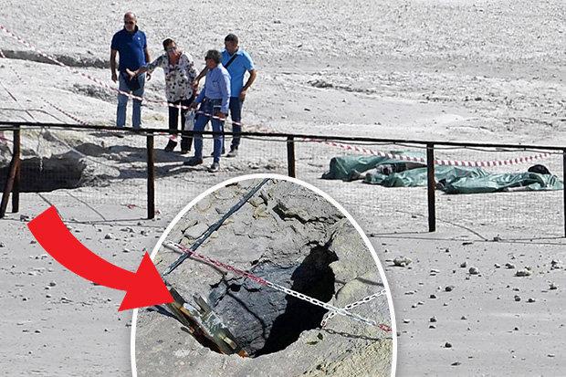 Gia đình 3 người ngã vào miệng núi lửa nóng trăm độ ở Ý - 1