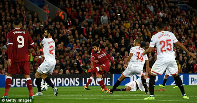 Video, kết quả bóng đá Liverpool - Sevilla: Thảm họa thẻ đỏ, hỏng phạt đền - 1
