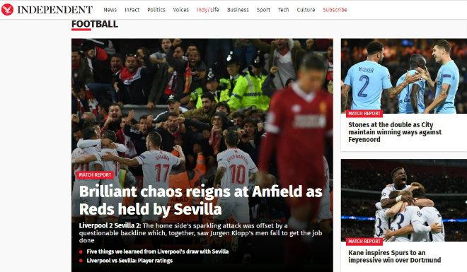 """Báo chí Anh: Tottenham & Man City được """"tung lên mây"""", quá tiếc cho Liverpool - 5"""