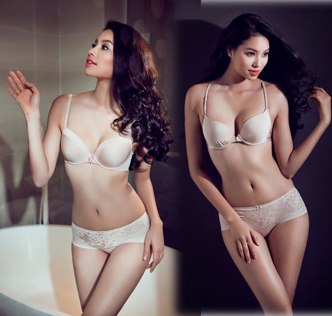 Ảnh diện nội y màu nude, trong suốt hiếm hoi của mỹ nhân Việt - 7