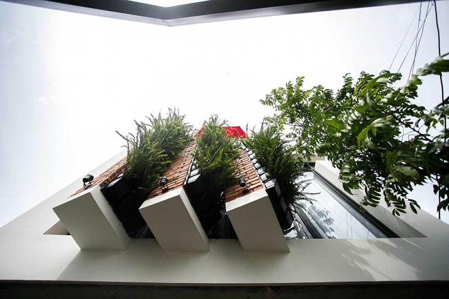 Bài toán của gia chủ đặt ra cho các kiến trúc sư là xây dựng một ngôi nhà đa chức năng, có tầng 1 để kinh doanh quán cà phê, tầng 2 là không gian sống cho gia đình 4 người, tầng thượng làm sân phơi.