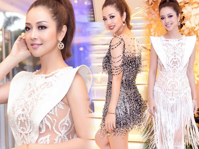 Jennifer Phạm đẹp như nữ thần với váy tua rua lạ mắt