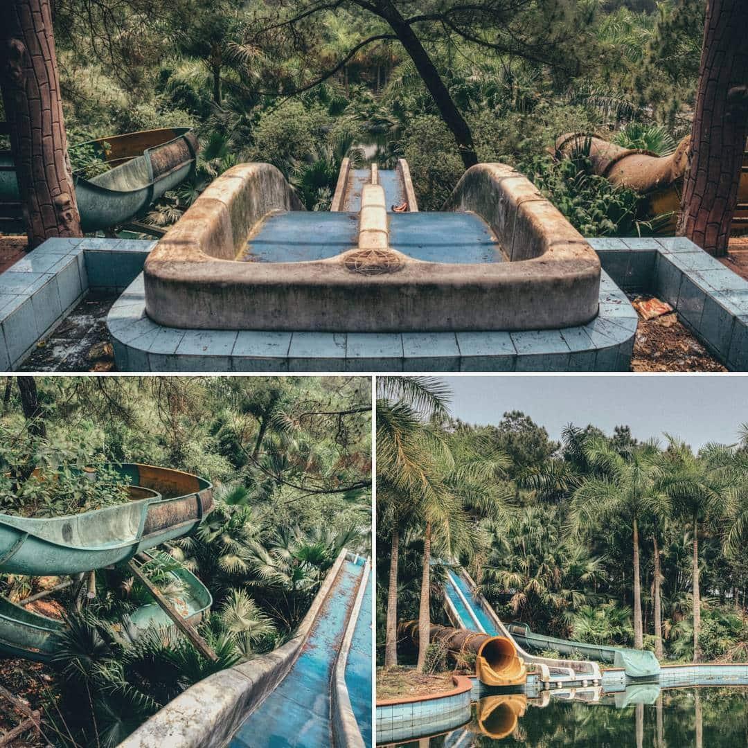 Du khách nước ngoài đổ xô khám phá công viên nước bỏ hoang ở Việt Nam - 2