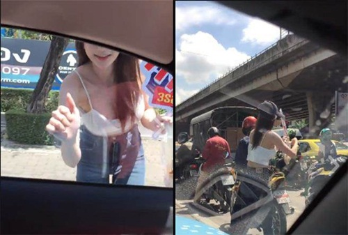 Mày râu Thái Lan điêu đứng vì cô gái bán gà nướng quá nóng bỏng - 2