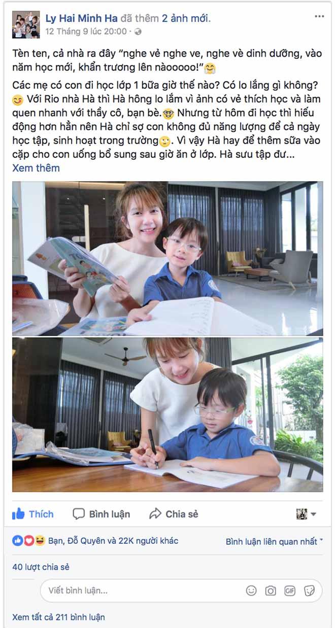 Cộng đồng mạng thích thú với bài thơ dinh dưỡng hot mom Minh Hà chia sẻ - 1