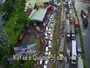 Tin tức trong ngày - Flycam: Toàn cảnh ngập nước, kẹt xe ở Đồng Nai do ảnh hưởng của bão số 10