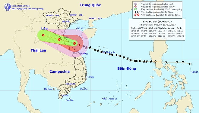 CẬP NHẬT bão số 10 ngày 15/9: Bão sang Lào sau 6 giờ quần thảo miền Trung - 6
