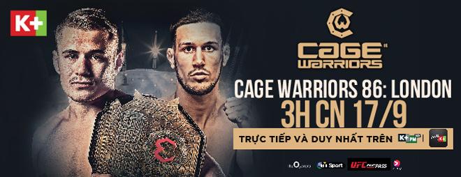 Fan võ thuật Việt Nam sẽ được theo dõi giải MMA Cage Warriors 1