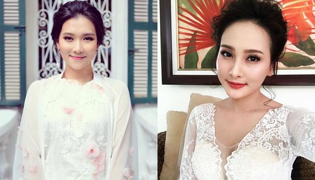 Nữ biên tập viên Thời sự 19h đang gây chú ý nhất hiện nay là Khánh Trang (trái). Cô được nhận xét có nét hao hao giống diễn viên Bảo Thanh (phải).