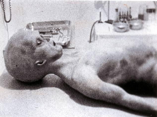 Hình ảnh được cho là xác người ngoài hành tinh.