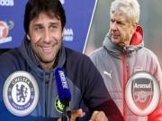 """Đại chiến Chelsea - Arsenal: Conte sợ hãi  """" đòn tẩy """"  của Wenger"""
