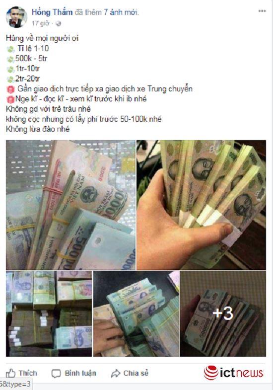 Mua tiền giả trên Facebook dễ như… mua rau - ảnh 3