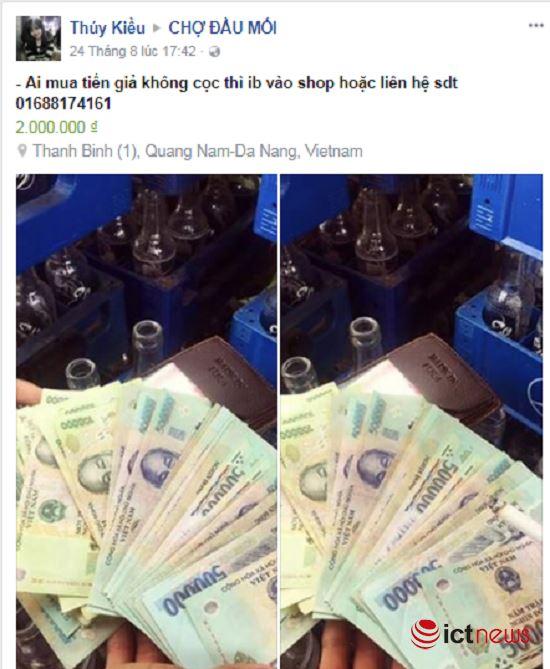 Mua tiền giả trên Facebook dễ như… mua rau - ảnh 5