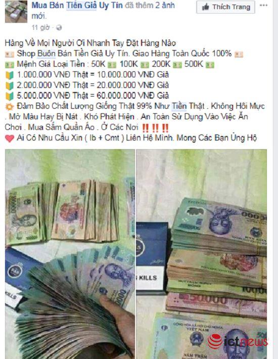 Mua tiền giả trên Facebook dễ như… mua rau - ảnh 6