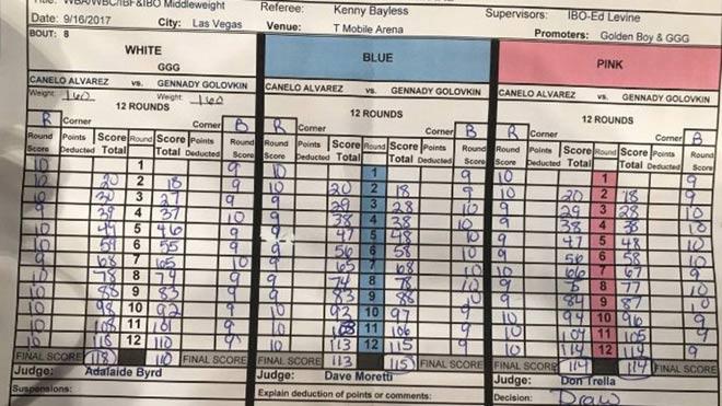 """Bê bối boxing kinh điển Golovkin-Alvarez: Trọng tài mù, cả thế giới """"chửi"""" - ảnh 1"""