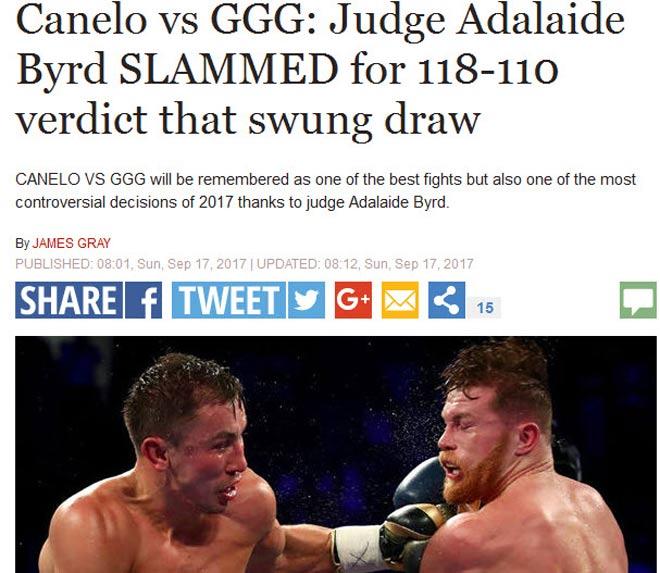 Bê bối boxing Golovkin-Alvarez: Trọng tài gây sốc, cả thế giới la ó 2
