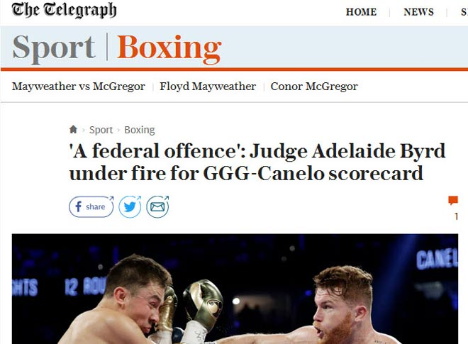 Bê bối boxing Golovkin-Alvarez: Trọng tài gây sốc, cả thế giới la ó 3