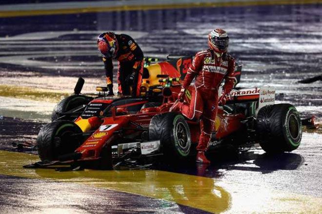"""F1, Singapore GP: Thủy chiến 2 xe """"bỏ mạng"""", 8 tay đua bỏ cuộc - ảnh 1"""