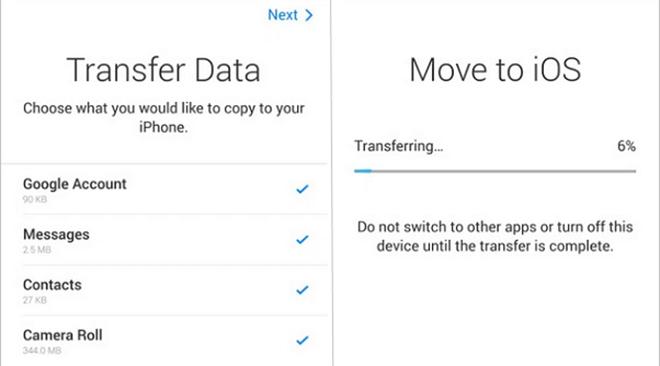 Ba cách chuyển địa chỉ liên hệ từ Android sang iPhone - 3