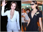 """Kỳ Duyên, Angela Phương Trinh lại  """" quên nội y """"  khi mặc vest"""