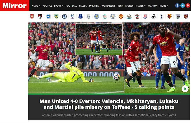 MU đại thắng 4 sao: Báo Anh thán phục Mourinho, ca ngợi Lukaku - 8