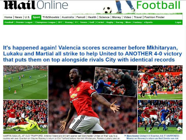 MU đại thắng 4 sao: Báo Anh thán phục Mourinho, ca ngợi Lukaku